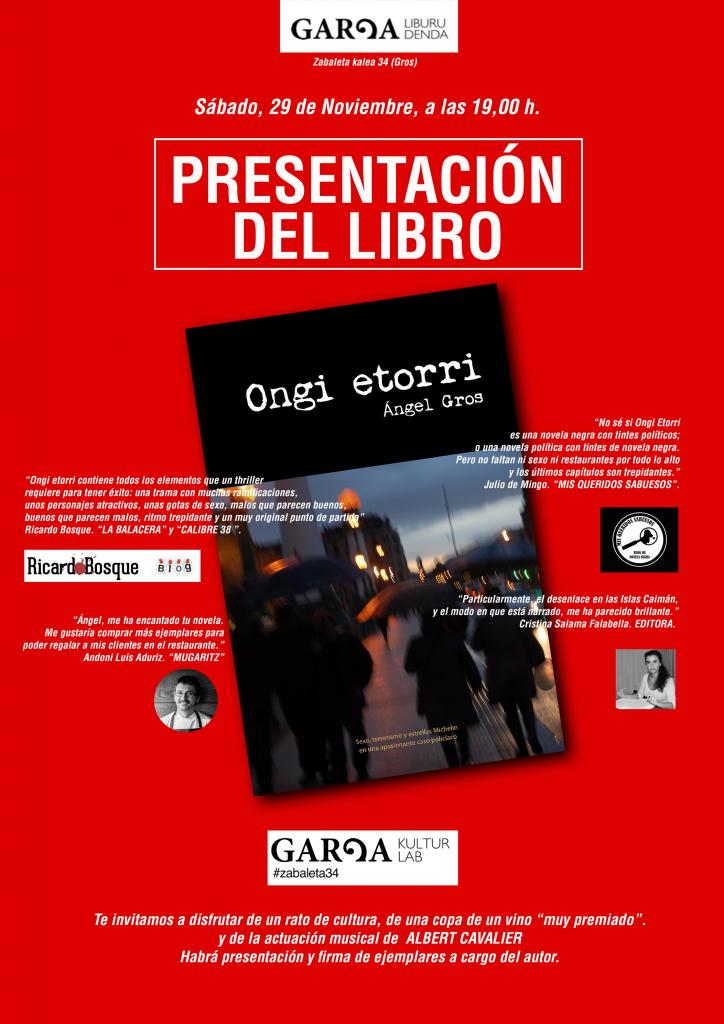 presentacion novela
